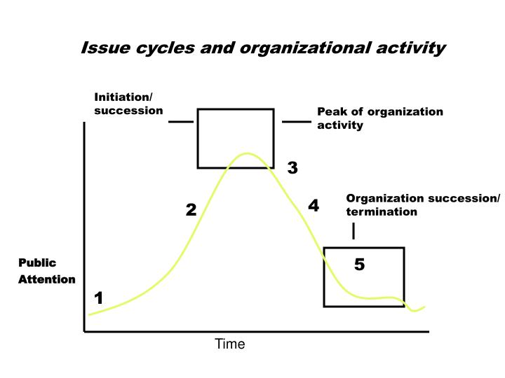 Issue cycles and organizational activity