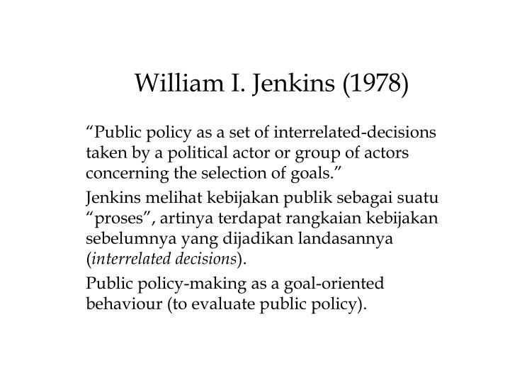 William I. Jenkins (1978)