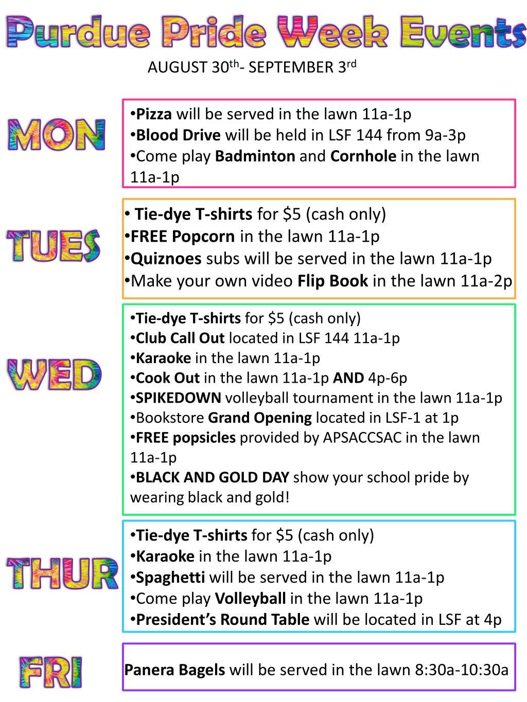 Purdue Pride Week Events