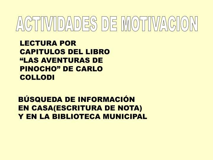 ACTIVIDADES DE MOTIVACION