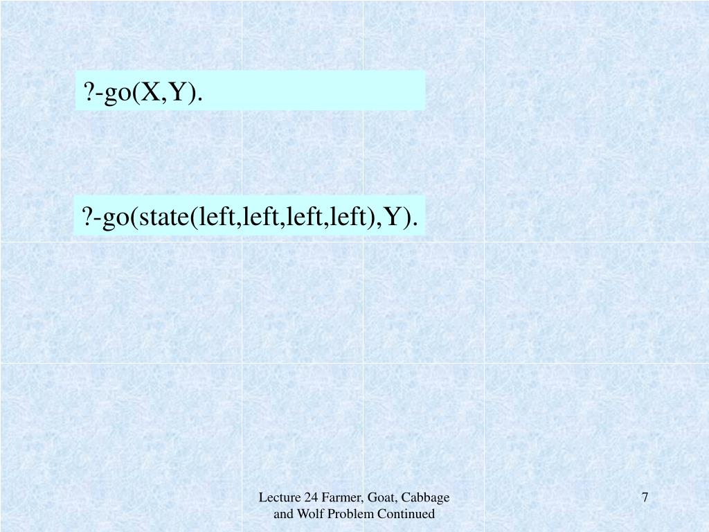 ?-go(X,Y).
