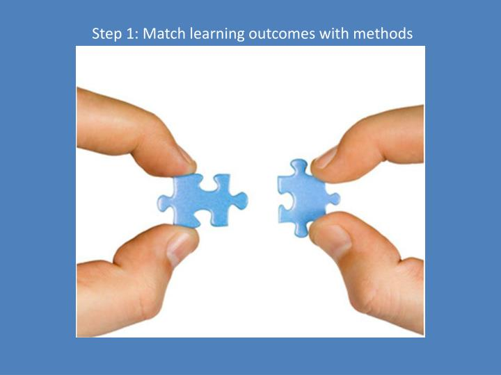 Step 1: Match learning outcomes with methods