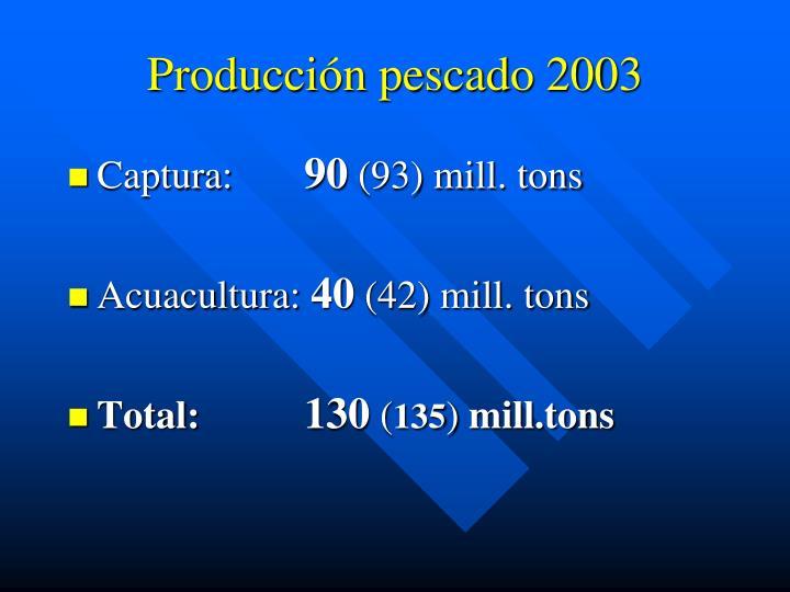 Producción pescado 2003