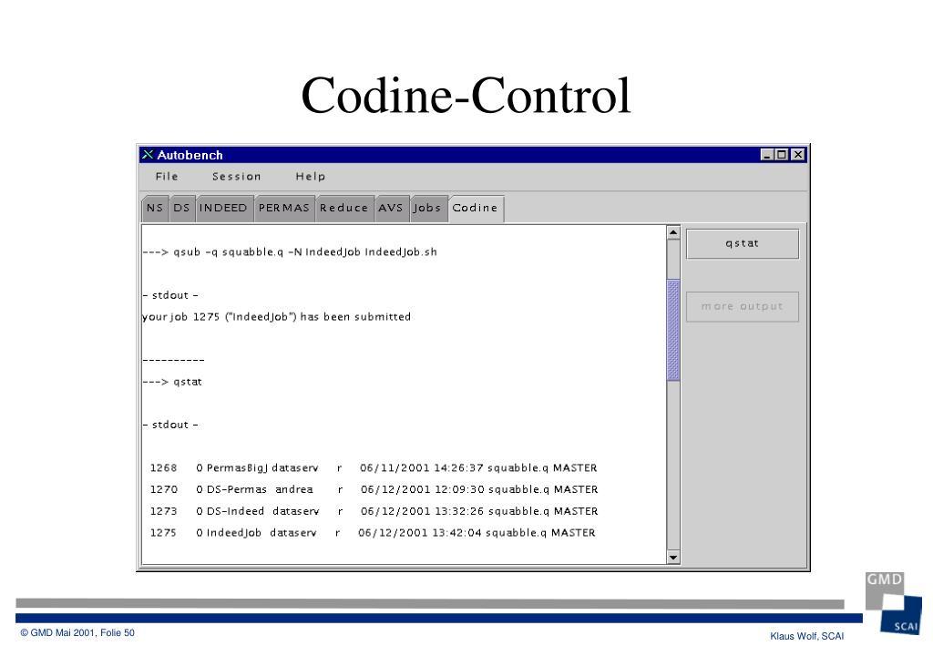 Codine-Control