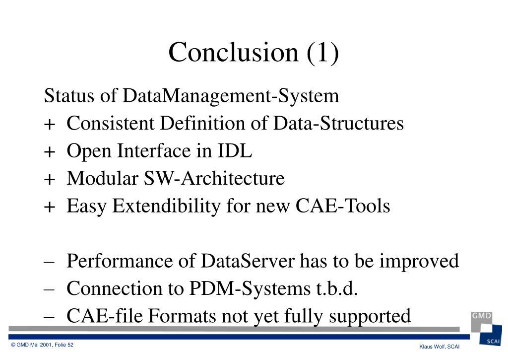 Status of DataManagement-System