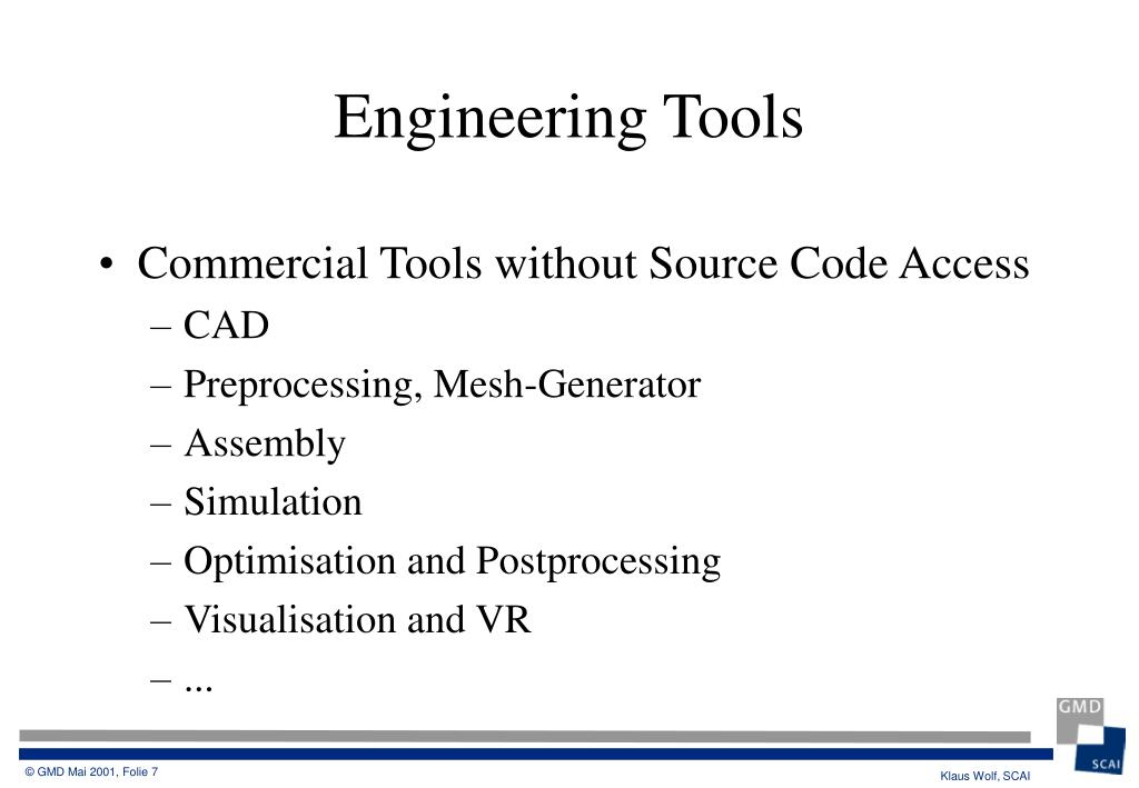 Commercial Tools without Source Code Access