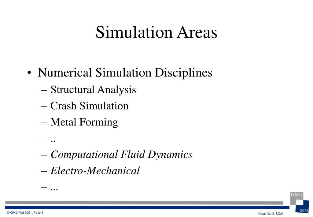 Numerical Simulation Disciplines