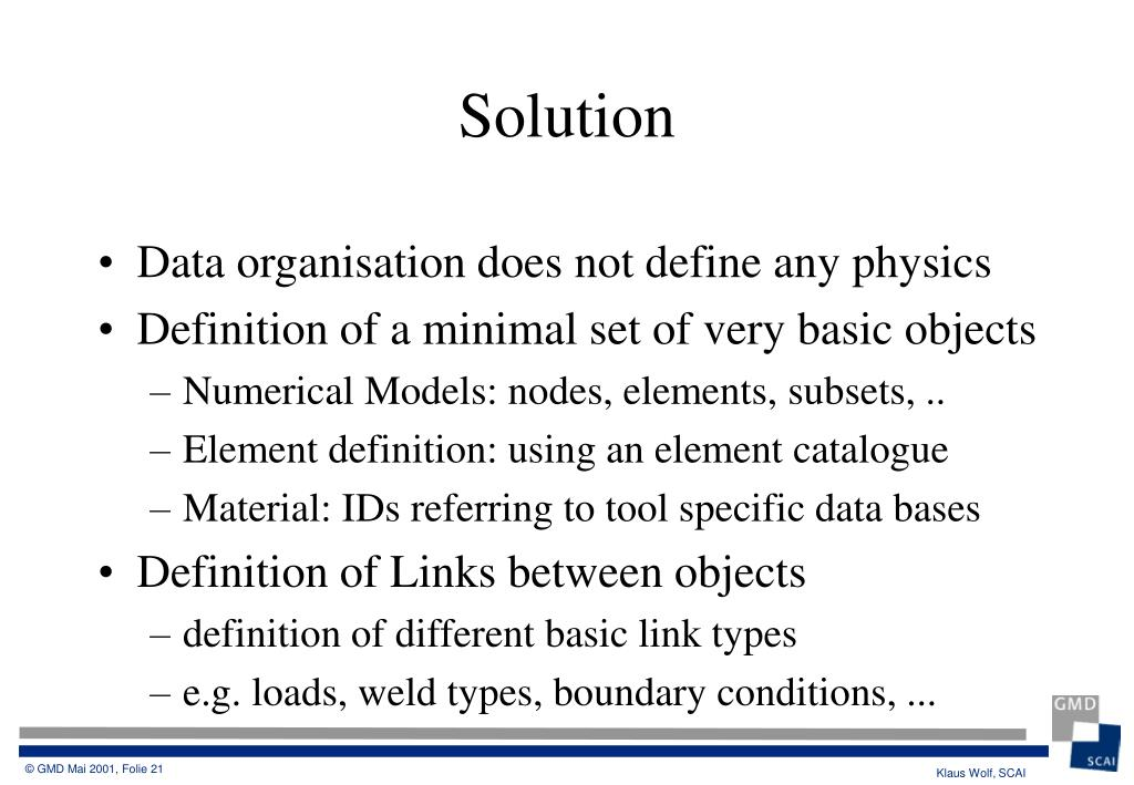 Data organisation does not define any physics