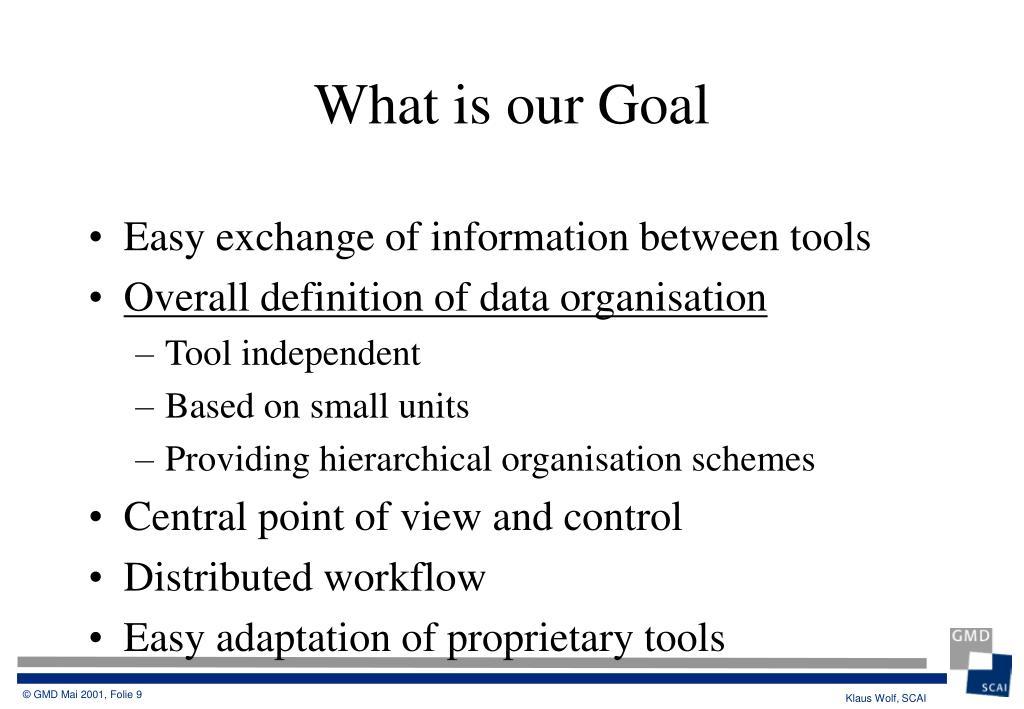 Easy exchange of information between tools