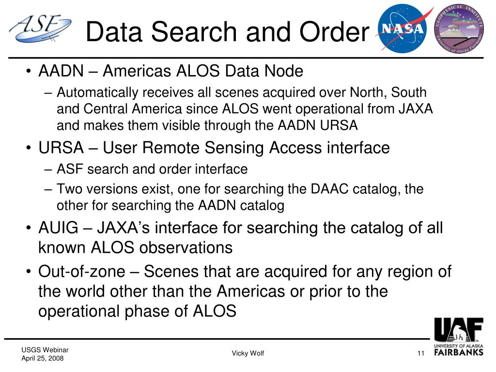 Data Search and Order