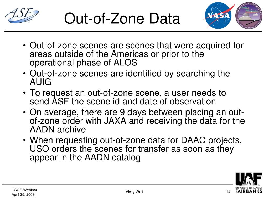 Out-of-Zone Data