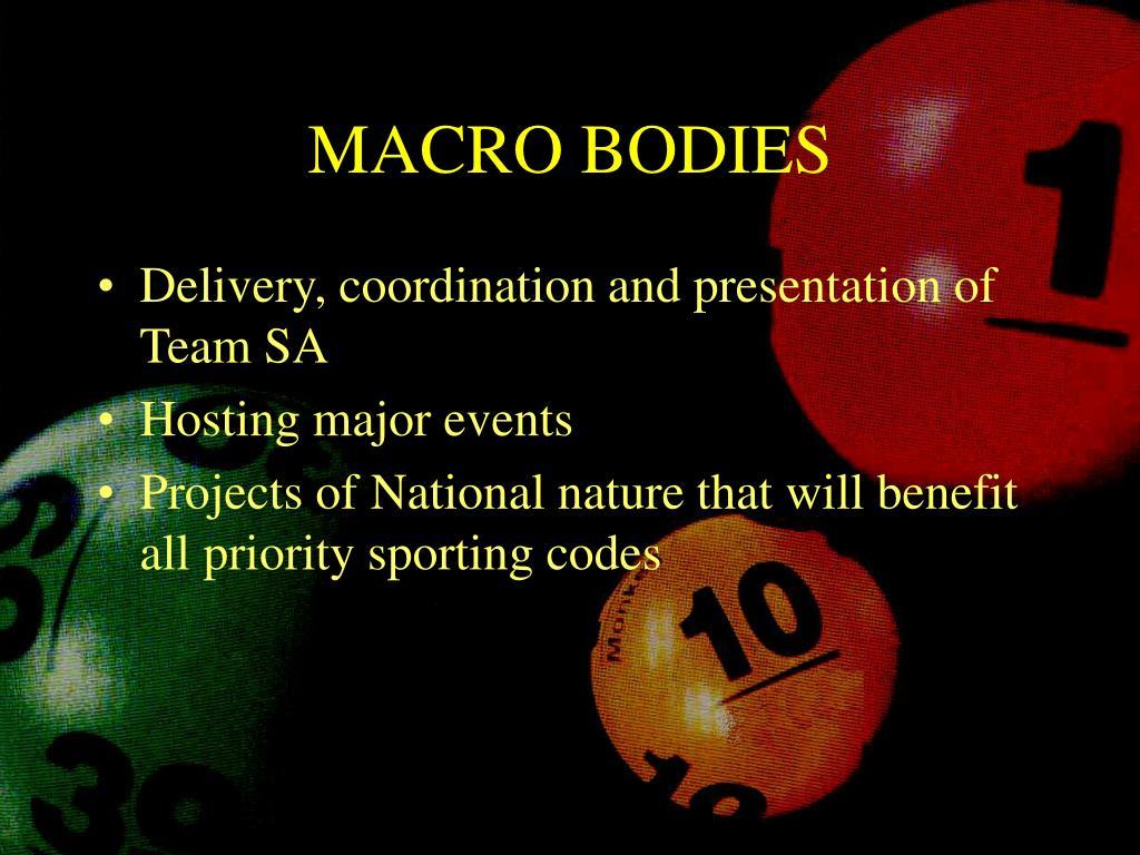 MACRO BODIES
