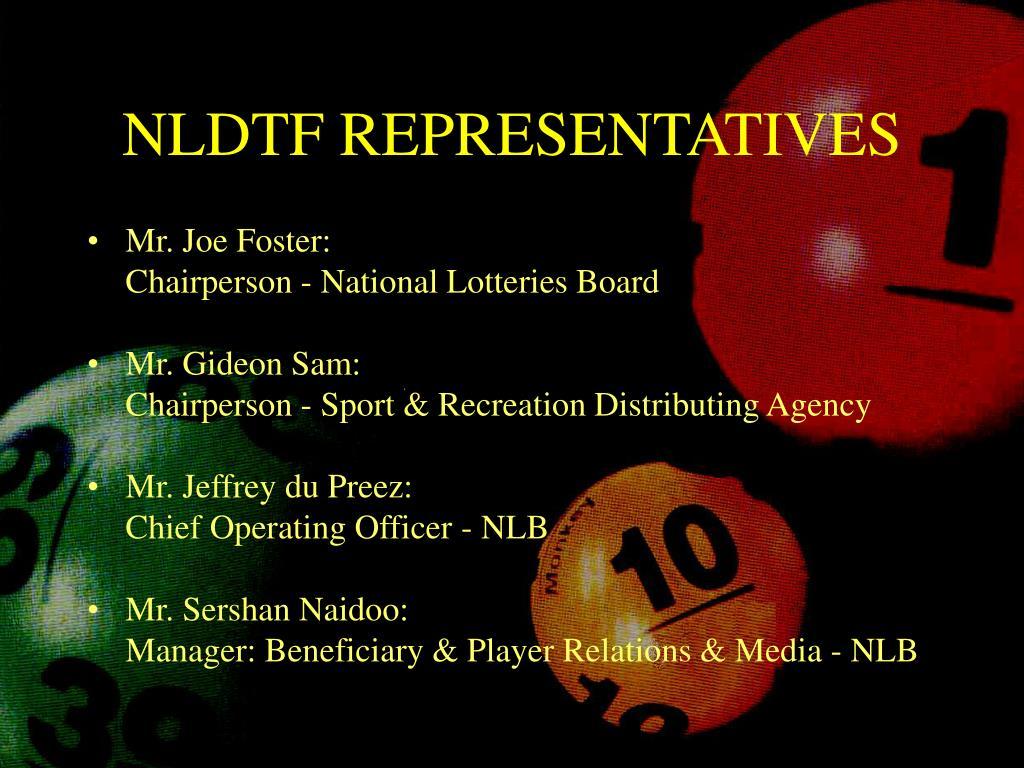 NLDTF REPRESENTATIVES