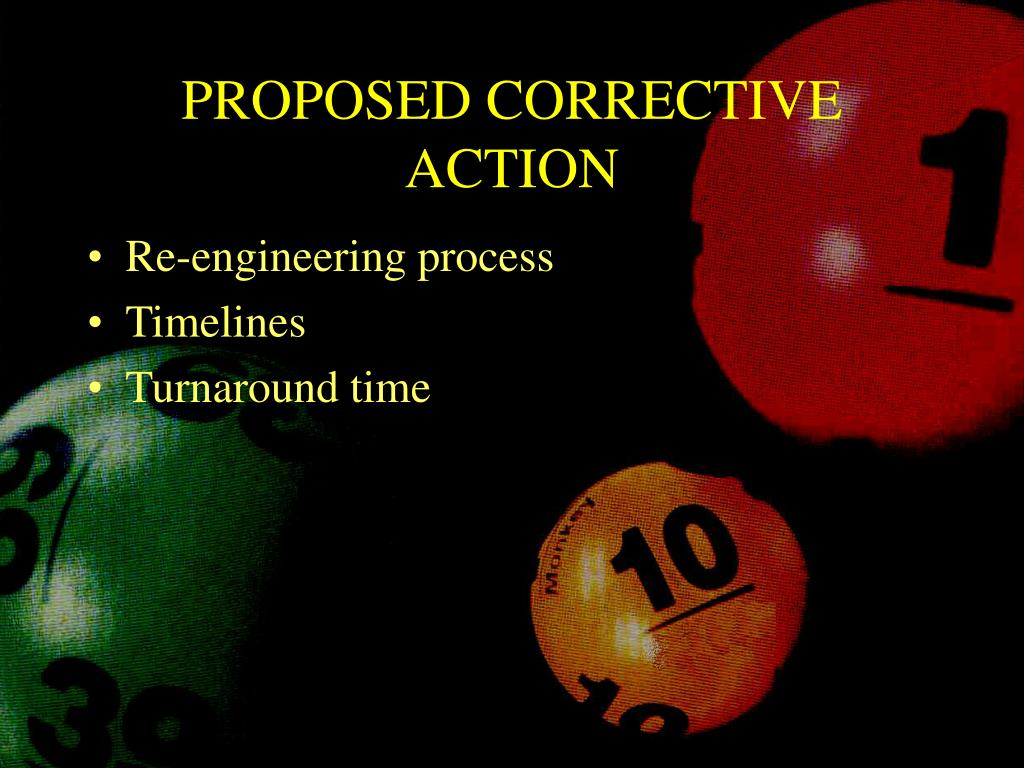 PROPOSED CORRECTIVE ACTION
