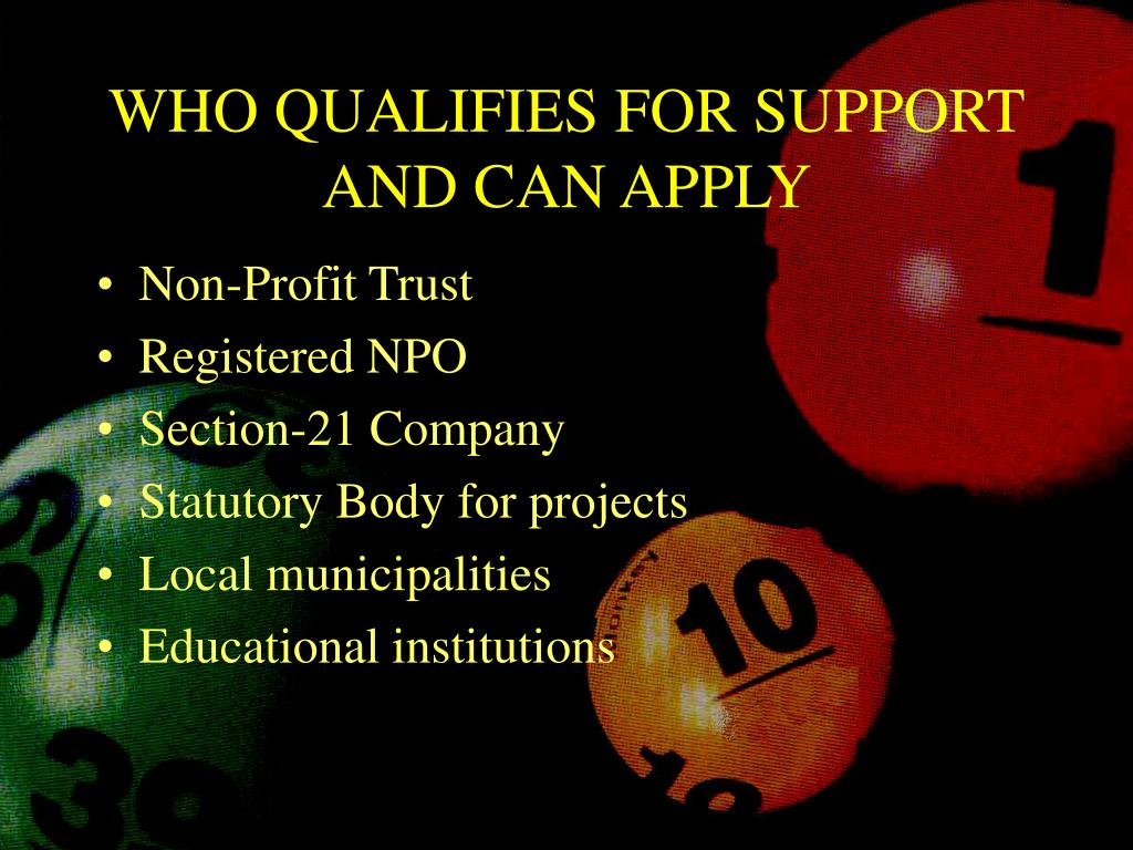 WHO QUALIFIES FOR SUPPORT AND CAN APPLY