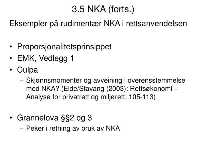 3.5 NKA (forts.)