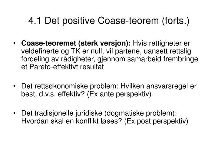 4.1 Det positive Coase-teorem (forts.)