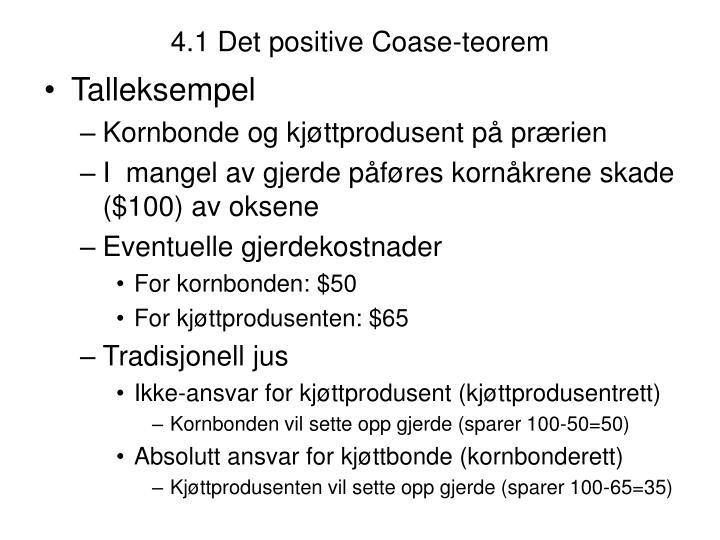 4.1 Det positive Coase-teorem