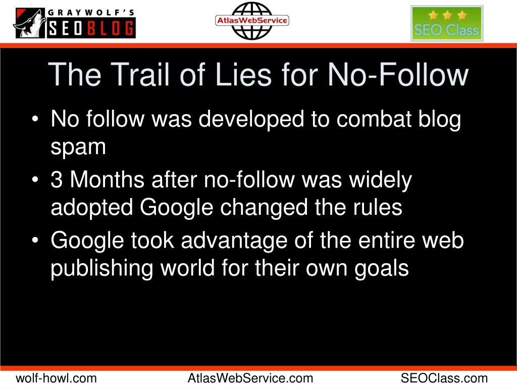 The Trail of Lies for No-Follow