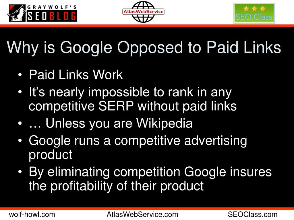 Why is Google Opposed to Paid Links