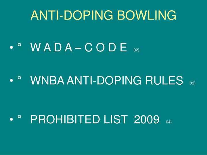 Anti doping bowling3