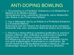 anti doping bowling8