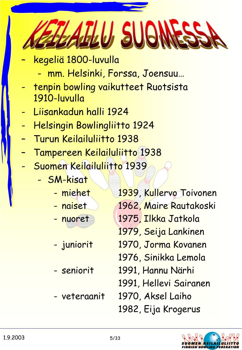 KEILAILU SUOMESSA