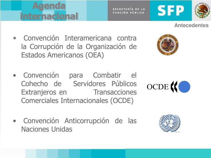 Agenda internacional