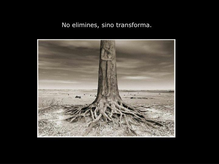 No elimines, sino transforma.