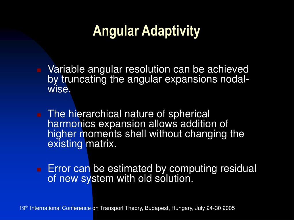 Angular Adaptivity