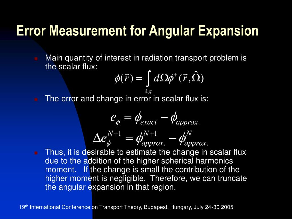 Error Measurement for Angular Expansion