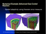 numerical example advanced gas cooled reactor