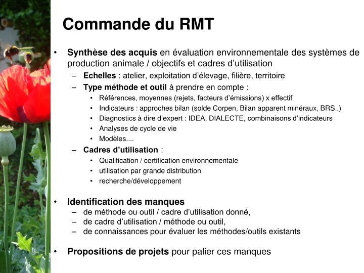Commande du RMT