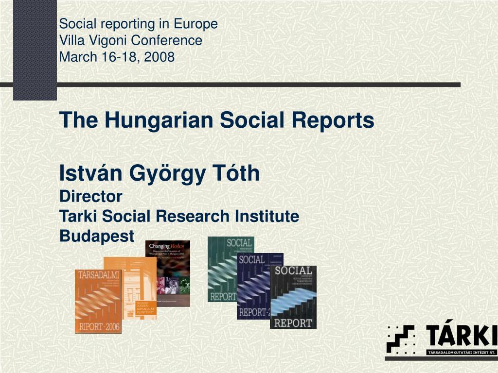 Social reporting in Europe