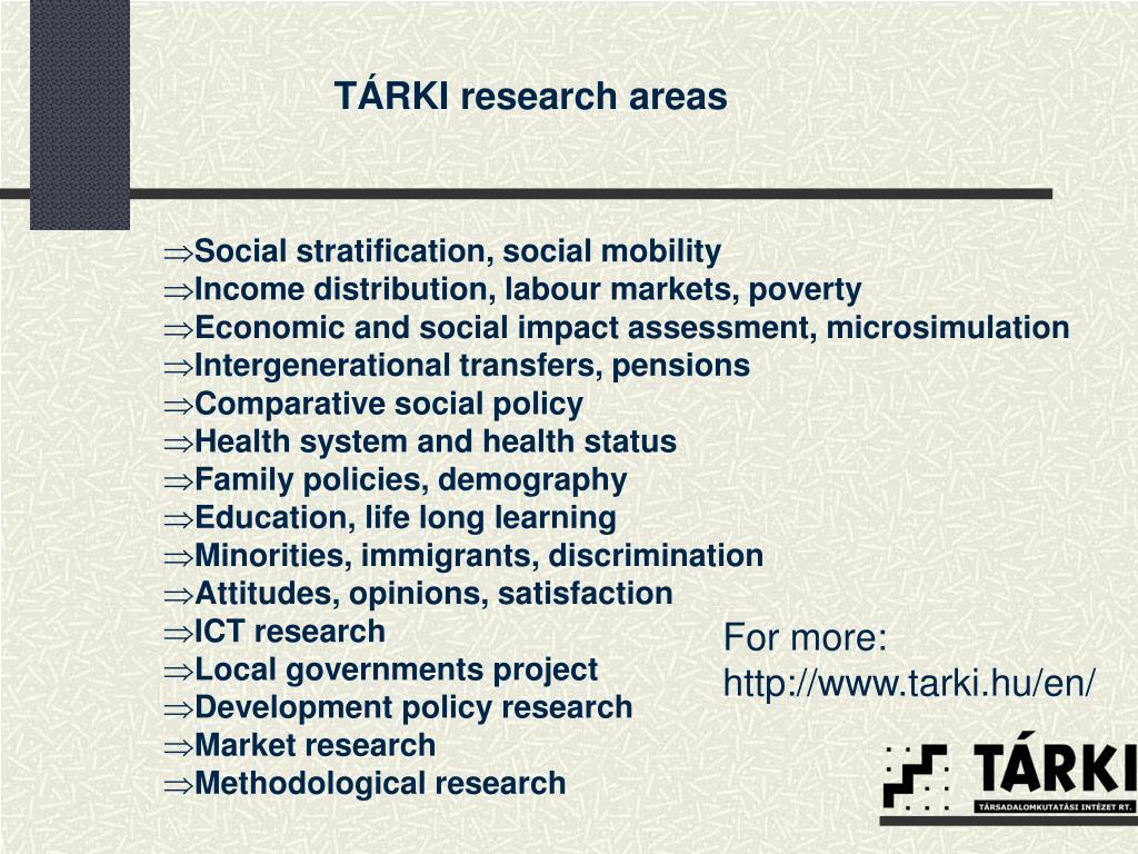 TÁRKI research areas