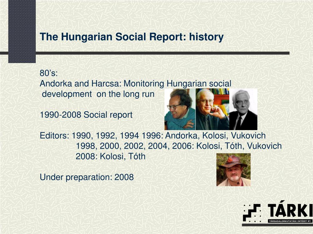 The Hungarian Social Report: history