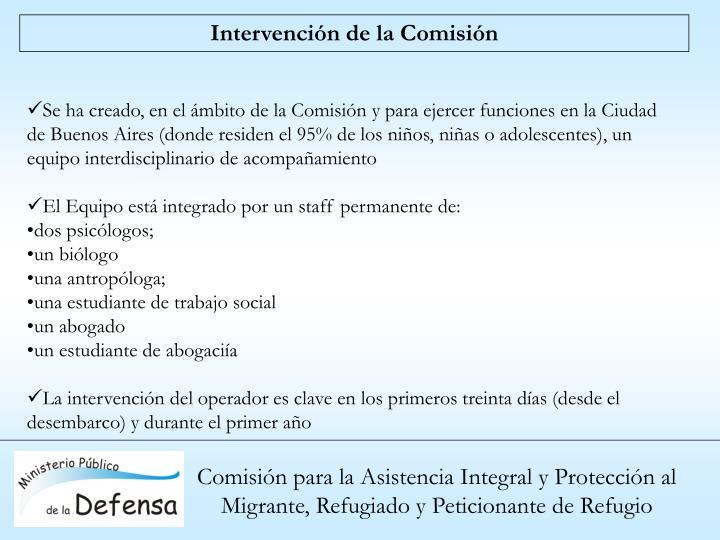 Intervención de la Comisión