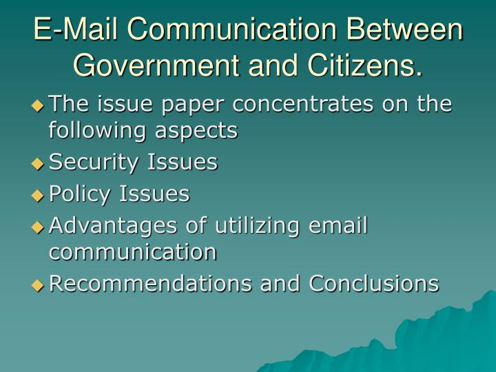 E-Mail Communication Between G
