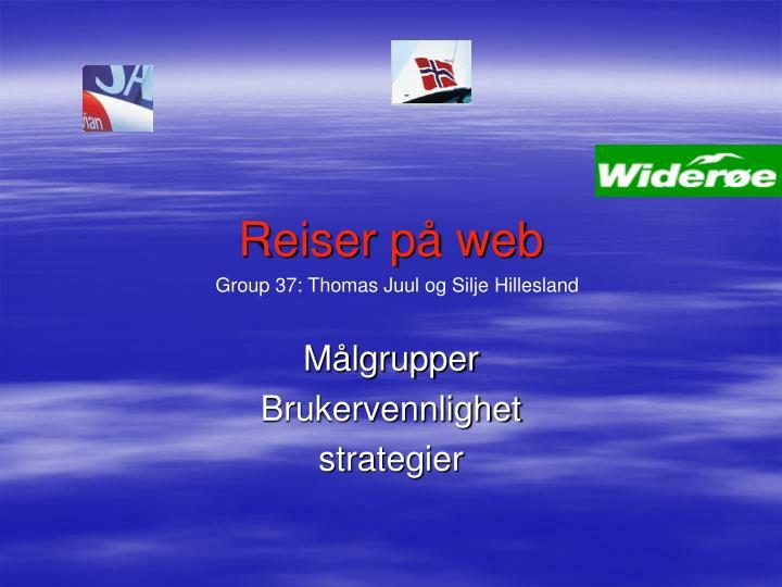 Reiser på web
