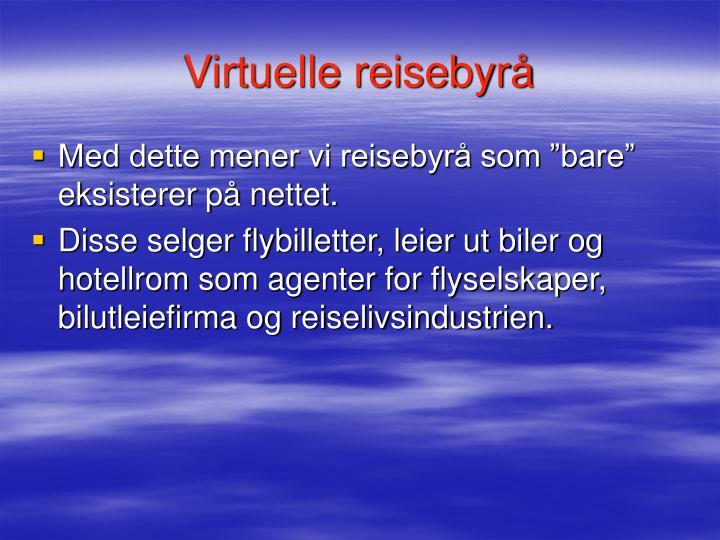 Virtuelle reisebyrå