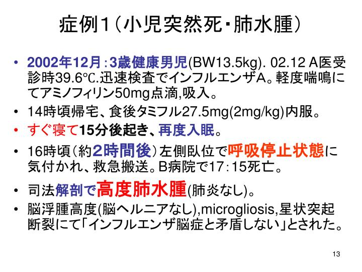 症例1(小児突然死・肺水腫)