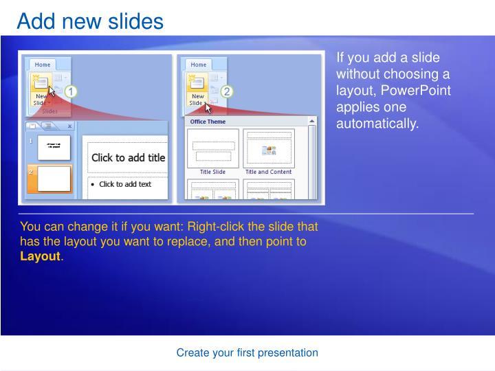 Add new slides