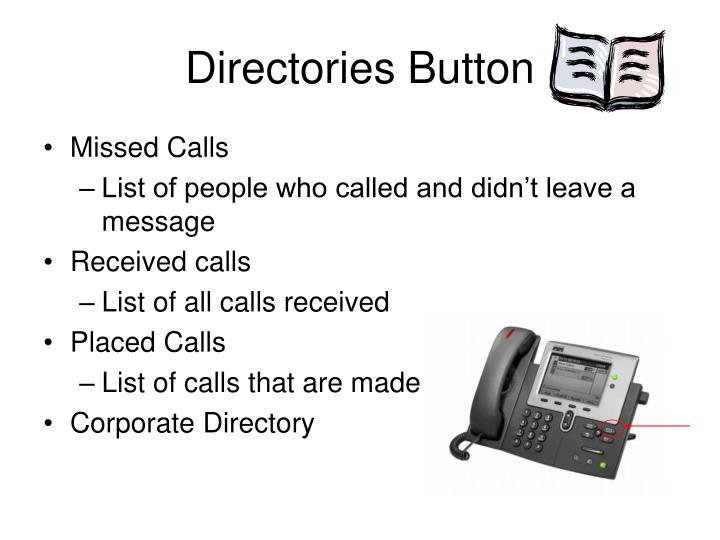 Directories Button