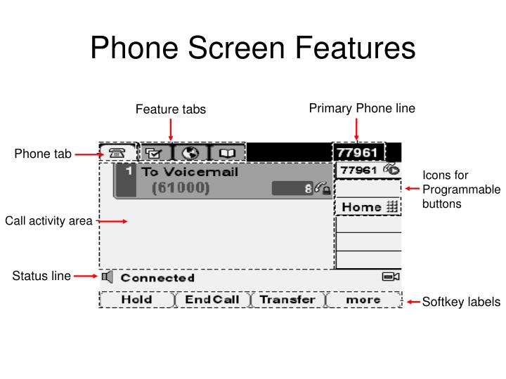 Phone screen features