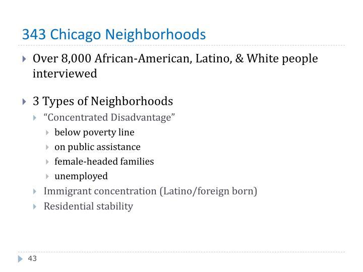 343 Chicago Neighborhoods