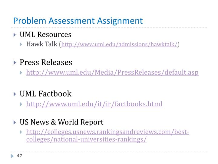 Problem Assessment Assignment