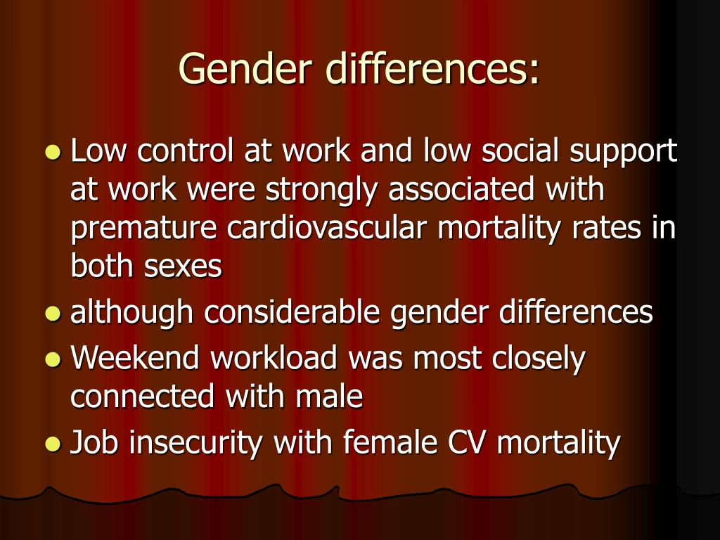 Gender differences: