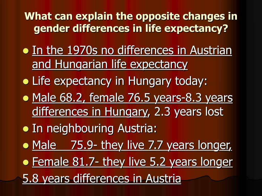 What can explain the opposite changes in