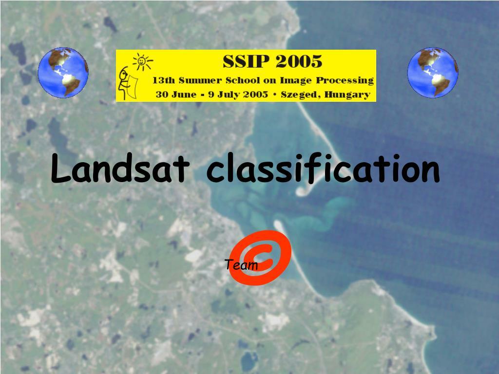 Landsat classification