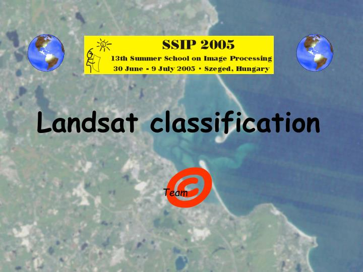Landsat classification